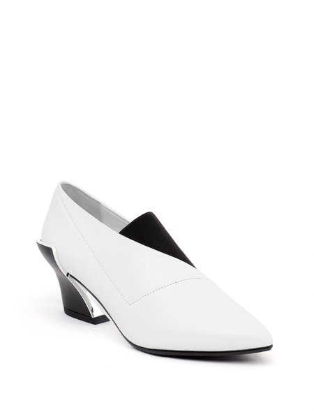 White Dress Leather Summer Heels
