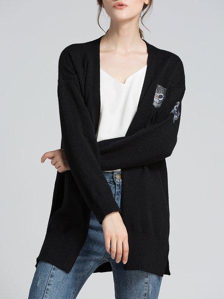 Long Sleeve Tencel Knitted Wool Cardigan