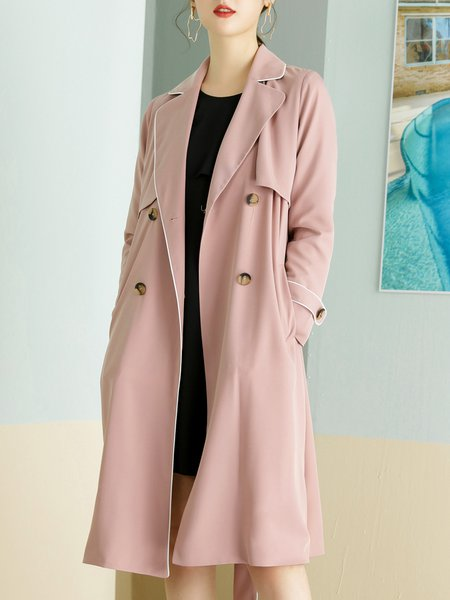 Resultado de imagen para A-line Lapel Long Sleeve Casual Trench Coat with Belt