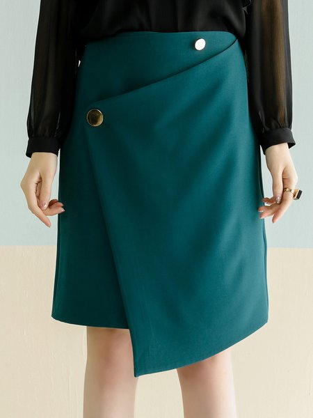 Casual Asymmetric A-line Mini Skirt
