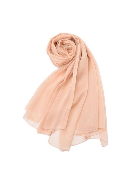 Solid Casual Silk Scarf