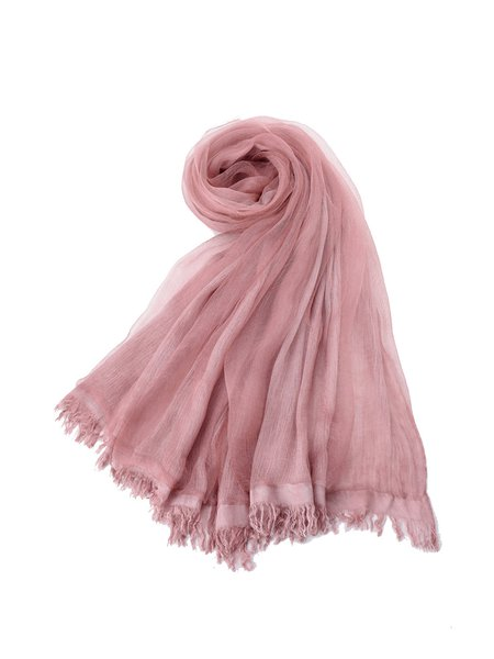 Soft Casual Solid Scarf