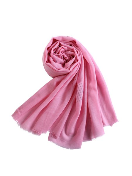 Embroidered Soft Wool Casual Scarf