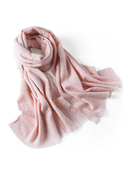 Pink Casual Stripes Scarf