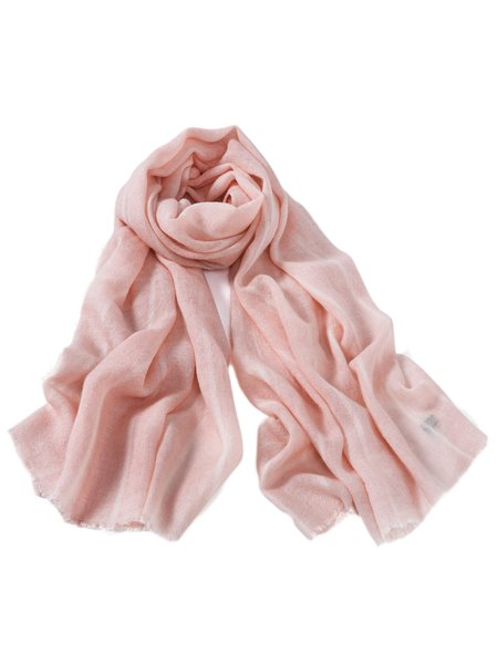 Pink Wool Solid Scarf