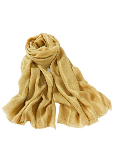 Yellow Solid Casual Scarf