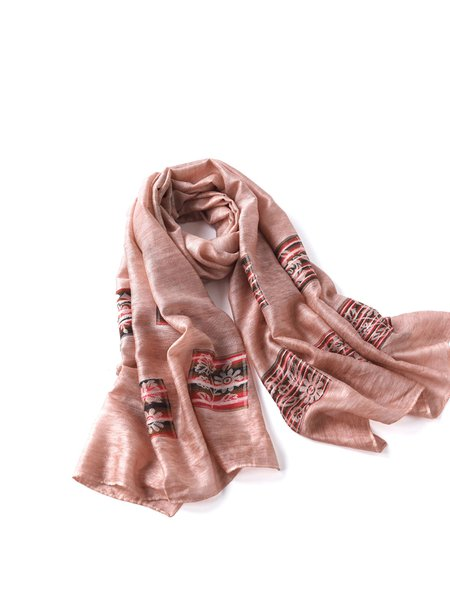 Pink Casual Scarf