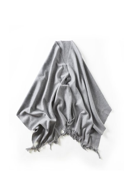 Gray Casual Solid Scarf