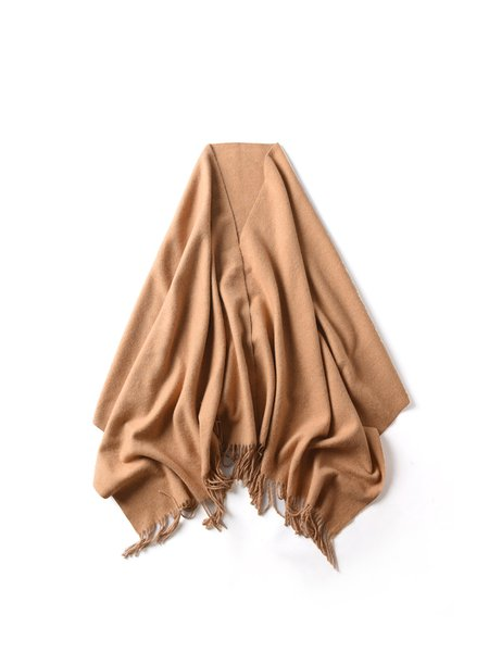 Camel Solid Casual Scarf