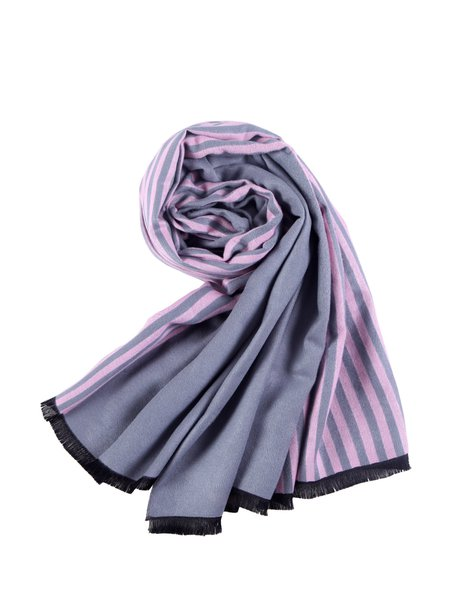 Pink Stripes Printed Casual Scarf