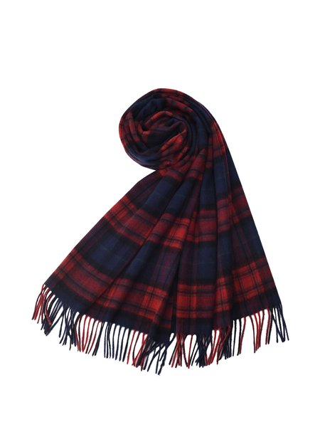Red Casual Checkered/Plaid Scarf