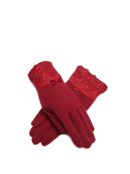Red Solid Gloves