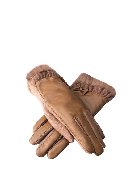 Camel Casual Solid Gloves
