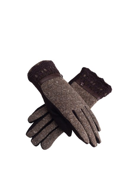 Coffee Casual Wool Gloves