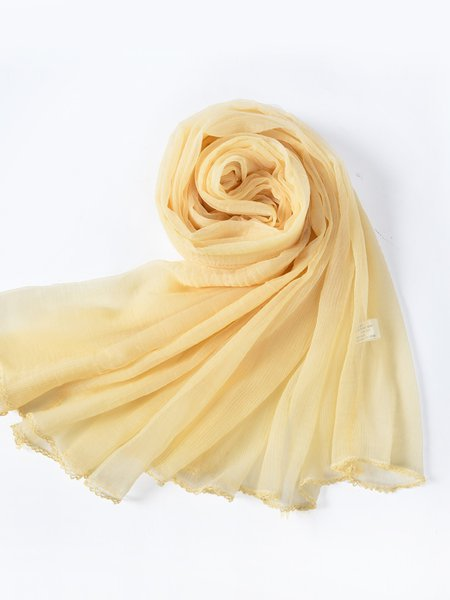Yellow Casual Scarf