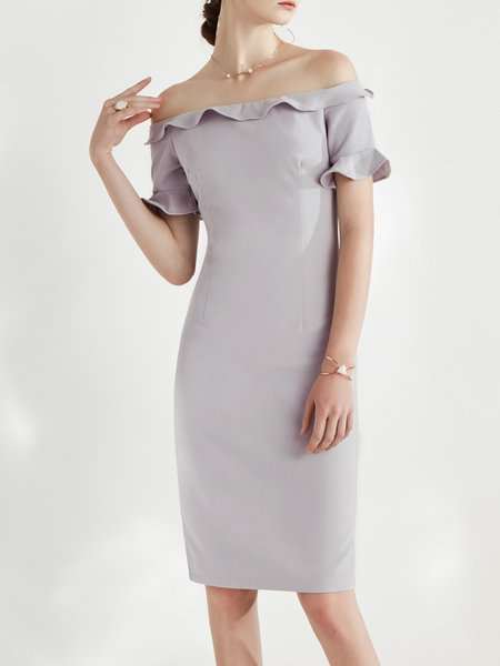 Light gray cocktail dress