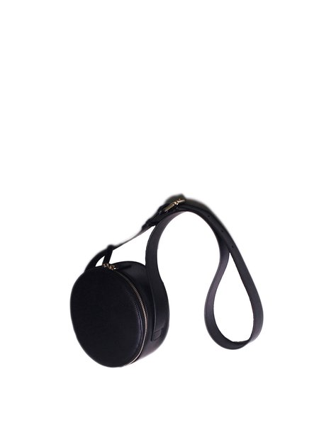 Solid Cowhide Leather Zipper Mini Casual Crossbody