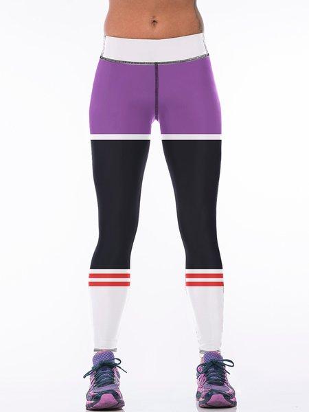 Multicolor Wicking Sports Bottom Leggings