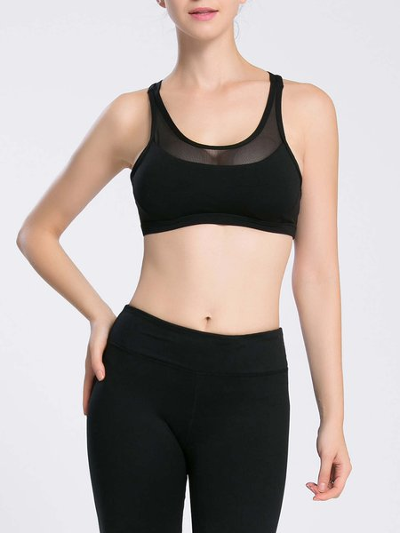 Polyester Wicking Sports Bra Sports Bras for Yoga