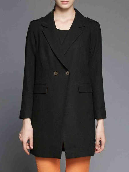 Black Pockets Formal Lapel Blazer