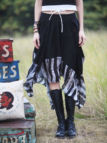 Swing Casual Midi Skirt