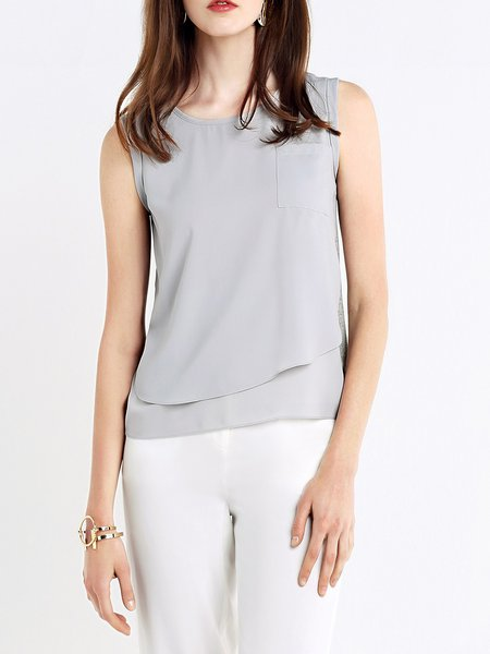 Casual Sleeveless H-line Tanks And Cami