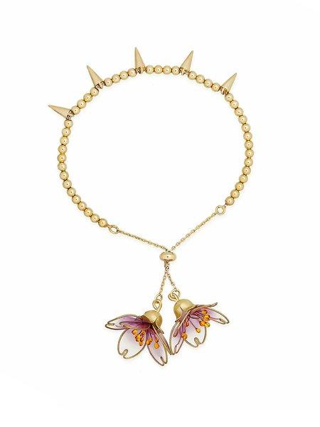 Golden Copper Flower Bracelet