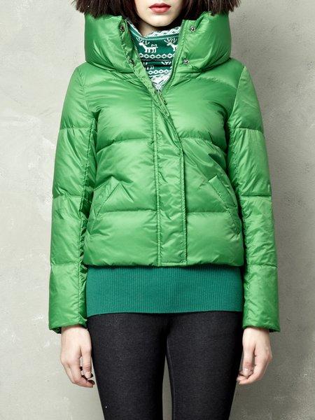 Solid Turtleneck H-line Elegant Pockets Down Coat