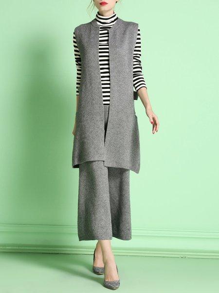 Elegant Two Piece Sleeveless Jumpsuit