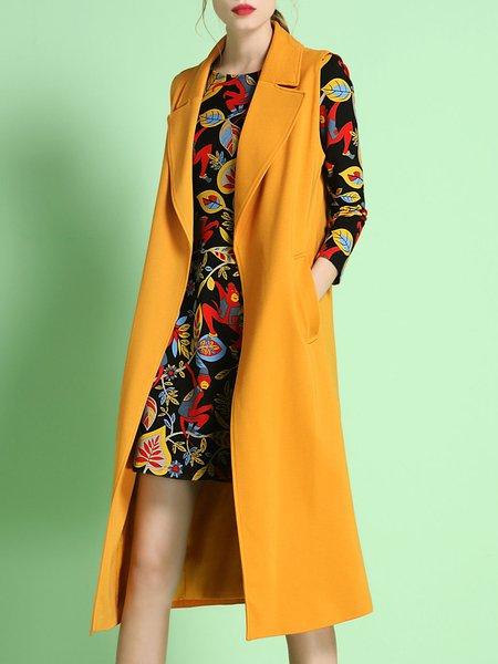 Sleeveless Lapel Elegant Vests And Gilet