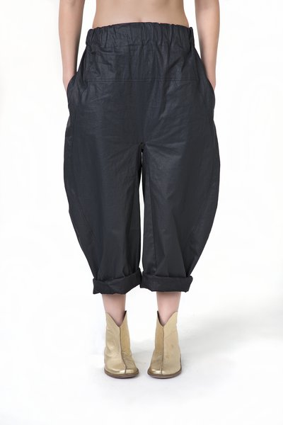Casual Linen Plain Wide Leg Pant