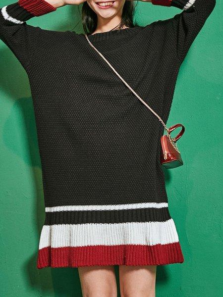Knitted Casual Acrylic Midi Dress