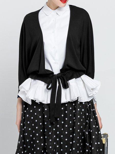 Black Batwing Plain Coat