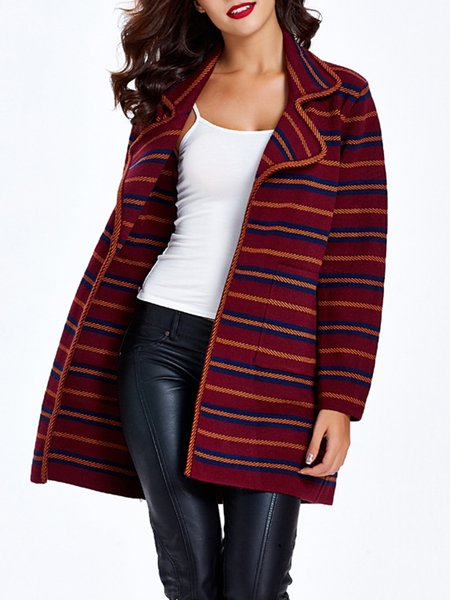 Long Sleeve Nylon Casual Knitted Cardigan