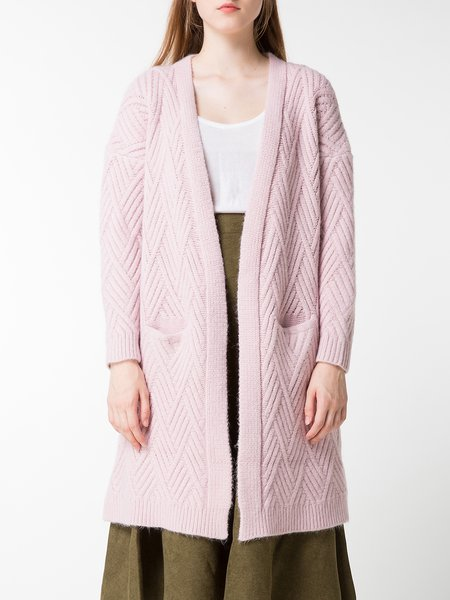 Casual Pockets Solid Long Sleeve Cardigan