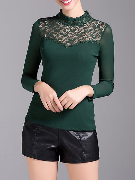 Floral Guipure Lace Elegant T-Shirt