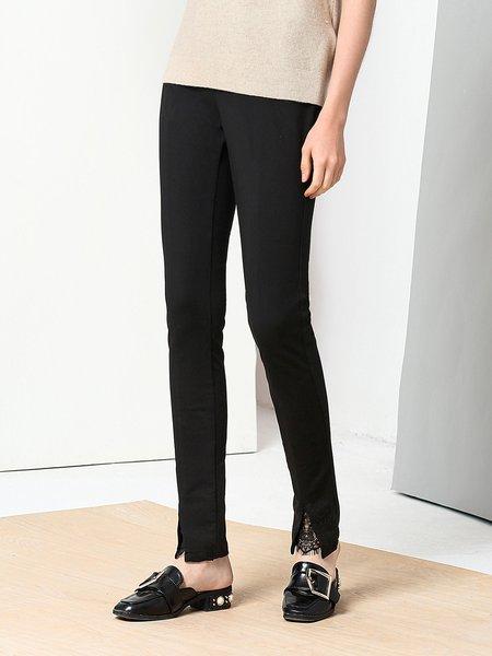 Casual Solid Skinny Leg Pants