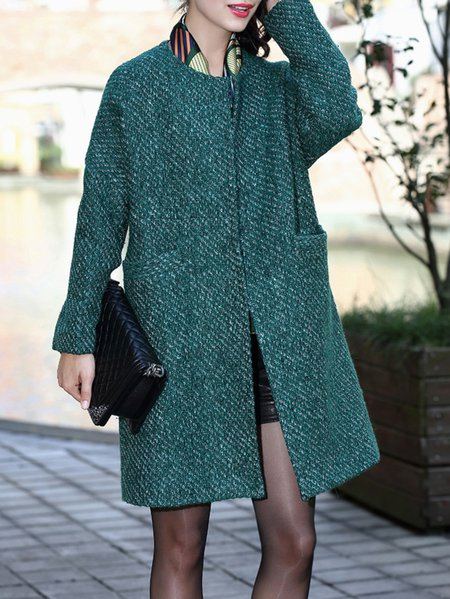H-line Casual Long Sleeve Long Coat