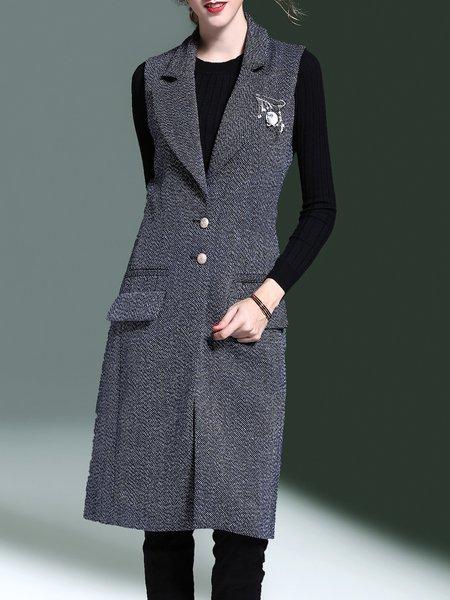 Gray Slit Casual H-line Vest