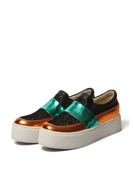Platform Color Block Mesh Spring/Fall Casual Sneakers