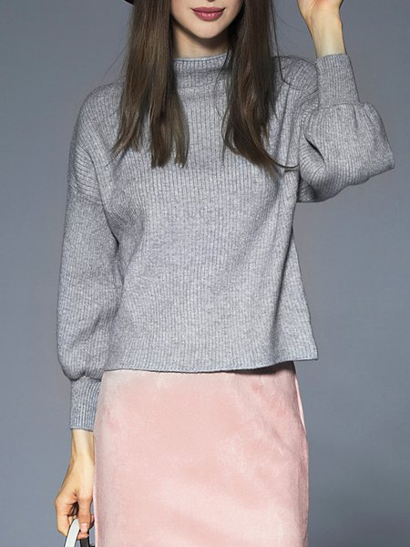 Knitted Casual Long Sleeve Turtleneck Sweater