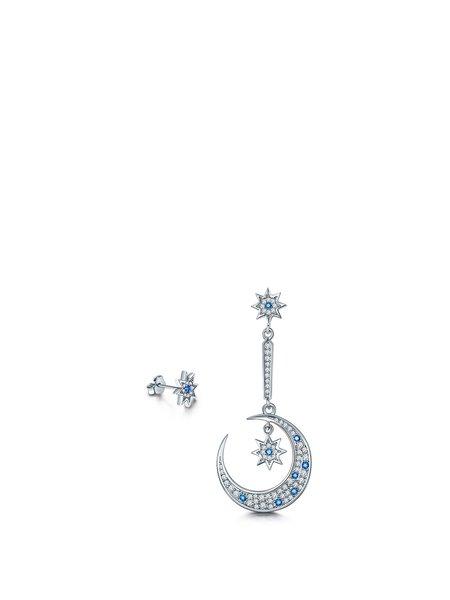 White Geometry Zircon 925 Sterling Silver Earrings