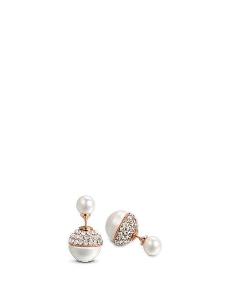 White Geometry Alloy Crystal Earrings