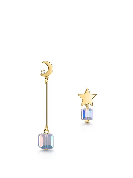 Gold-Color Alloy Star Earrings