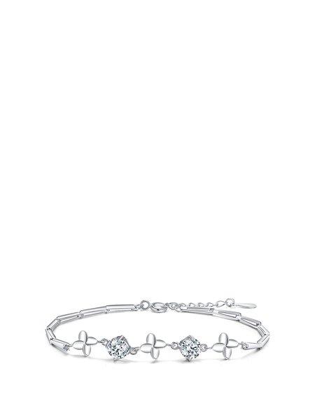 White Cubic Zirconia 925 Sterling Silver Bracelet