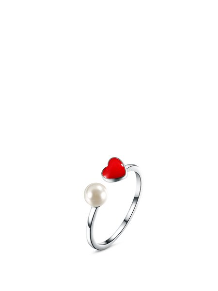 Red Heart 925 Sterling Silver Ring