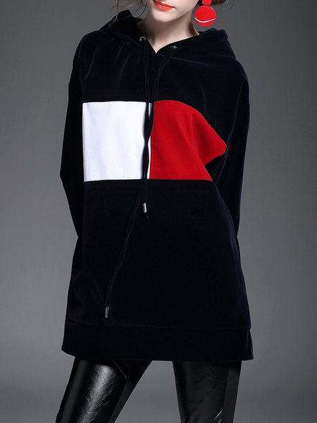 Color-block Hoodie Long Sleeve Casual Hoodies And Sweatshirt