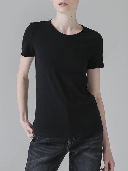 Cotton-blend Simple Solid Crew Neck T-Shirt