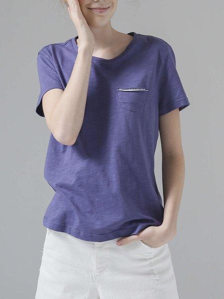 Simple H-line Cotton T-Shirt