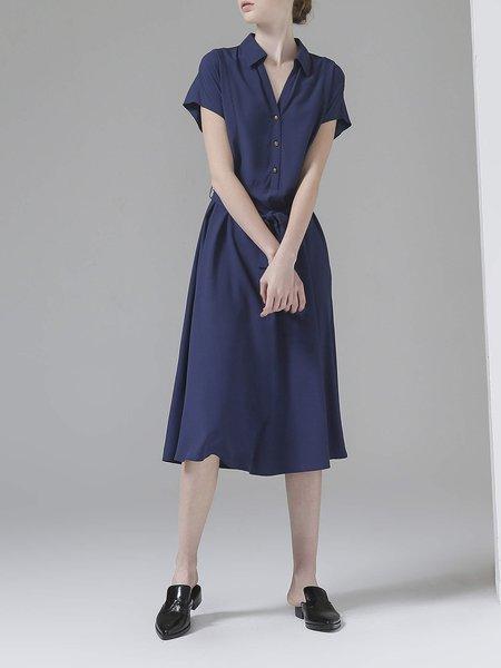 Short Sleeve Casual Swing Midi Dress